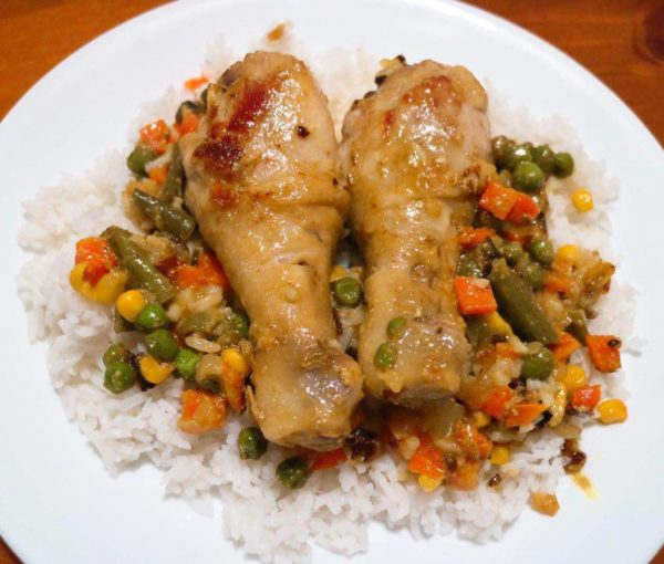 Creamy Curried Chicken with Rice