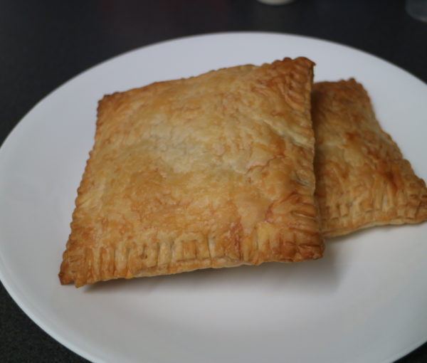 Curried Sausages and Rice Pastries