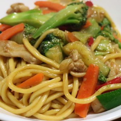 Chicken Stir Fry with Oyster Sauce and Hokkien Noodles
