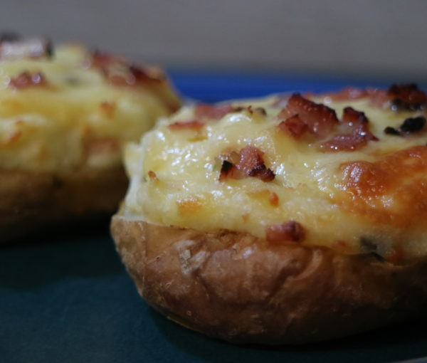 Stuffed Potatoes with a Cheese and Bacon Filling