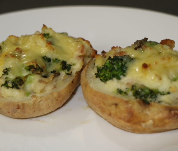 Stuffed Potatoes with a Broccoli and Cheese Filling