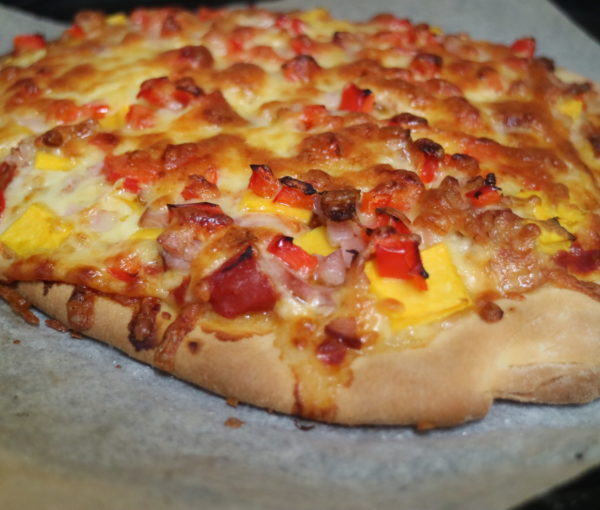 Pumpkin and Bacon Pizza