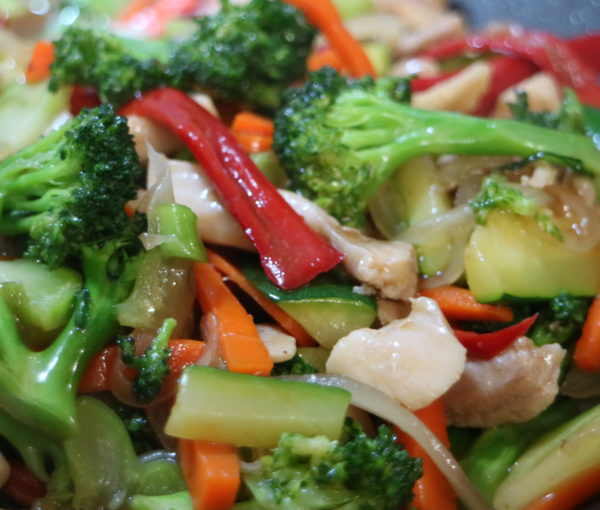 Chicken and Broccoli Stir fry with Oyster Sauce