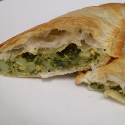 spinach and corn pastie