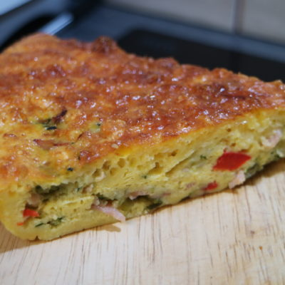 Ham and Zucchini Impossible Pie
