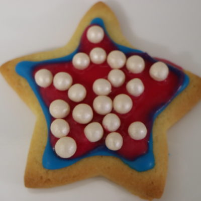 Iced star biscuits