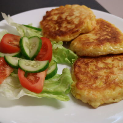 Corn and Carrot Fritters
