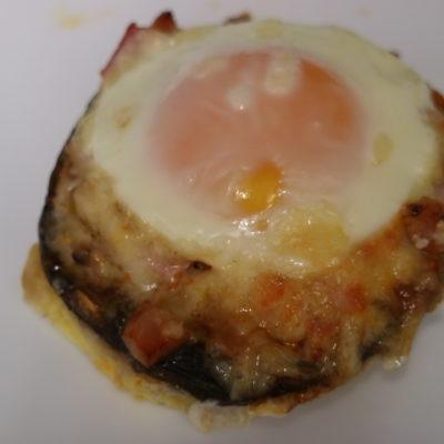 bacon and egg stuffed mushrooms