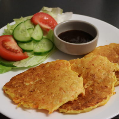carrot and potato fritters