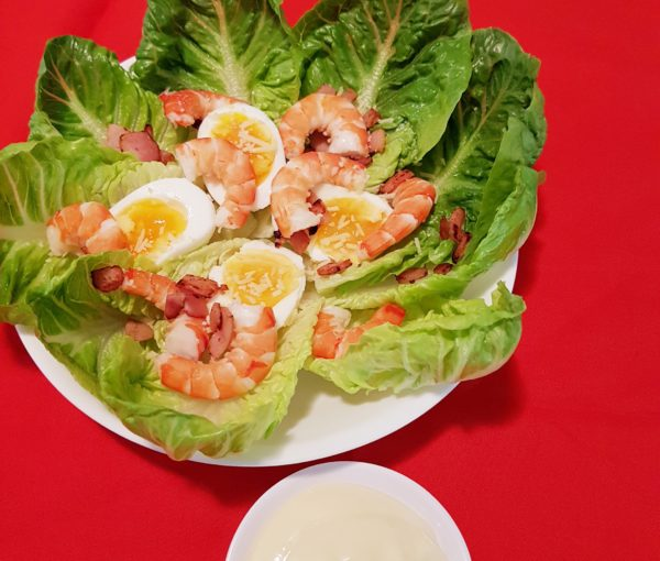 Prawn Caesar-Like Salad