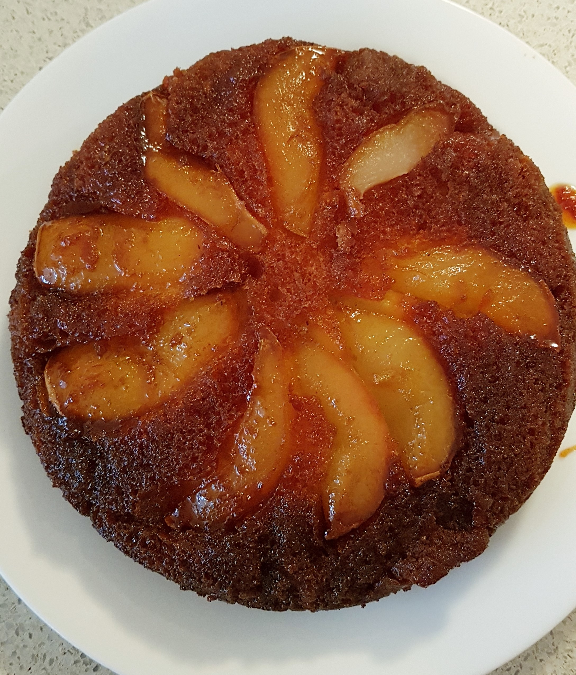 Pear and Caramel Upside Down Cake